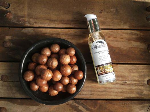 Macadamia en concha y aceite de macadamia