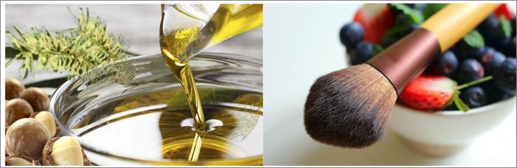 Cosmeticos con aceite de macadamia e ingredientes naturales