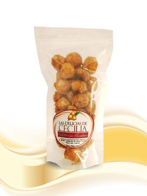 Macadamia Caramelizada-x-125g Las Delicias de Cecilia Productos con Macadamia