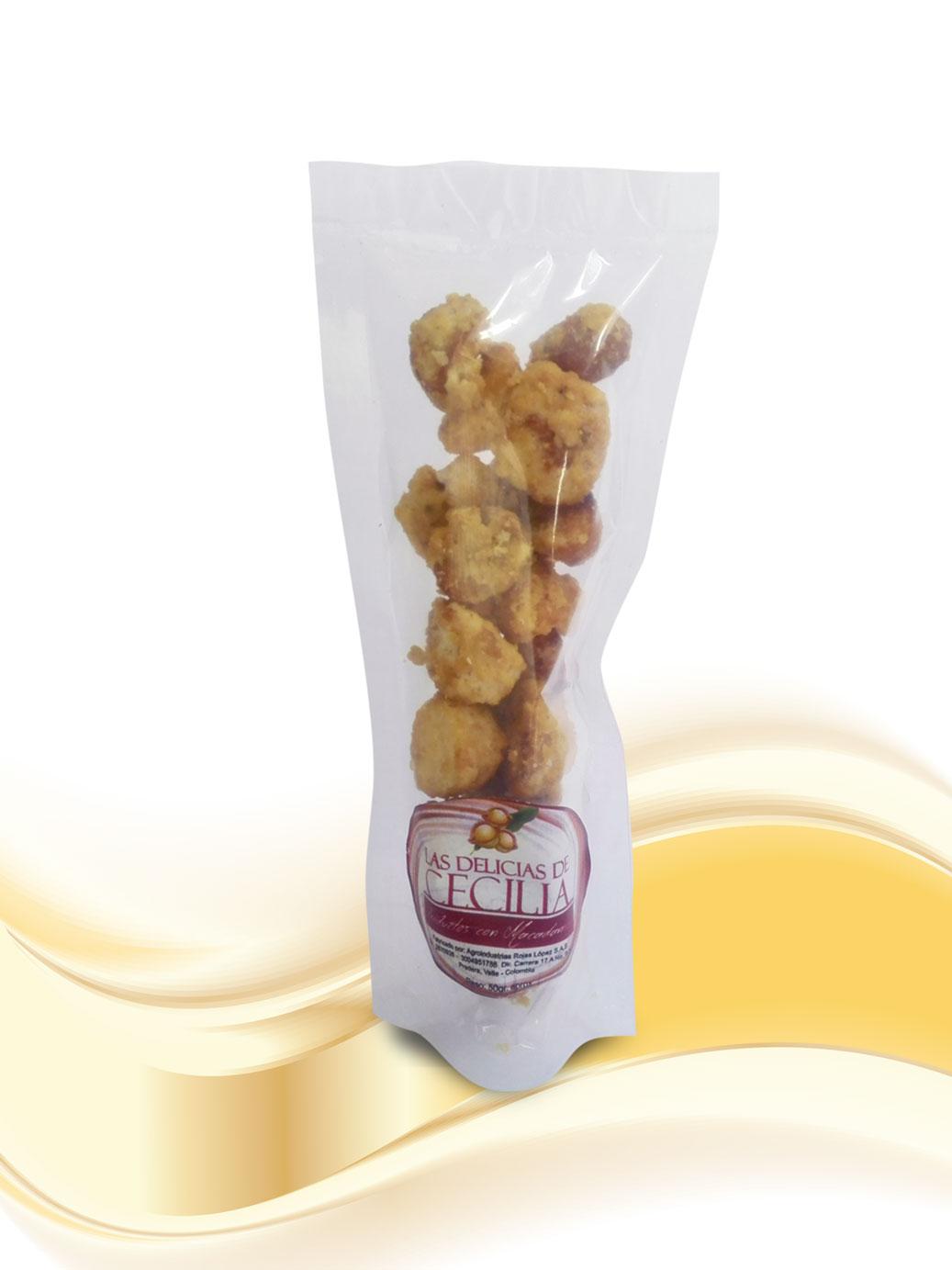 Macadamia Caramelizada-x-50g Las Delicias de Cecilia Productos con Macadamia