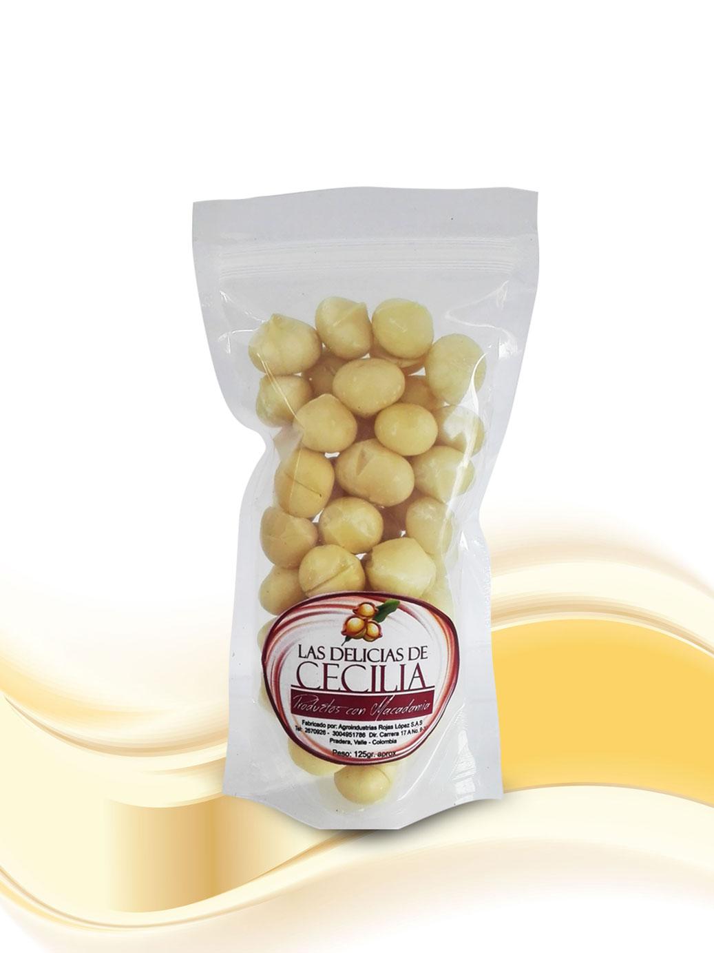 Nueces de Macadamia x 125 gr Las Delicias de Cecilia Productos con Macadamia