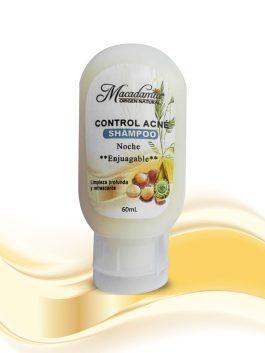 Shampoo control Acné con Aceite de Macadamia y árbol de Te, limpia profundamente controlando el Acné
