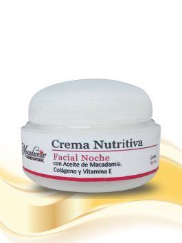 Crema Facial -Nutritiva Noche -x-60mL con Aceite de Macadamia Colágeno y Vitamiana EMacadamia Origen Natural