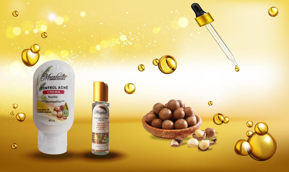 Linea productos cosméticos Macadamia Origen Natural