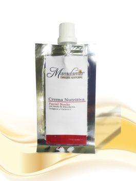 Crema Facial Nutritiva Noche con Aceite de Macadamia, colágeno y vitamina E