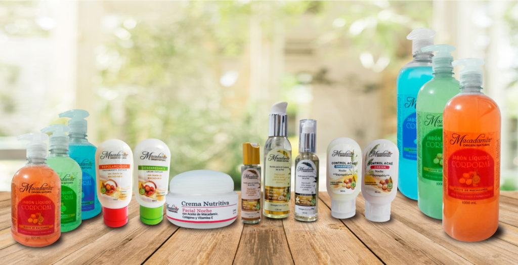 Pproductos cosméticos Macadamia Origen Natural